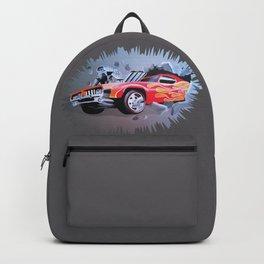 Hot Wheels Car Crashing Through a Wall Backpack