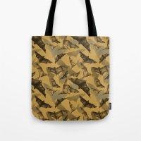 bats Tote Bags featuring Bats by Deborah Panesar Illustration