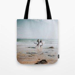lets surf xxiv / wategos beach, australia Tote Bag