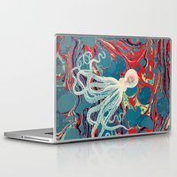 octopus Laptop & iPad Skins featuring Octopus by Pepe Psyche