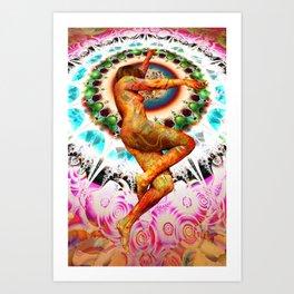 FLOATER MANDALA P Art Print