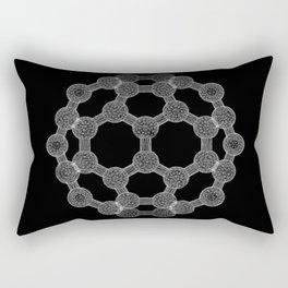 GEOMETRIC NATURE: MOLECULAR SOCCER b/w Rectangular Pillow