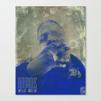 notorious Canvas Prints featuring Notorious  by Chris Charles