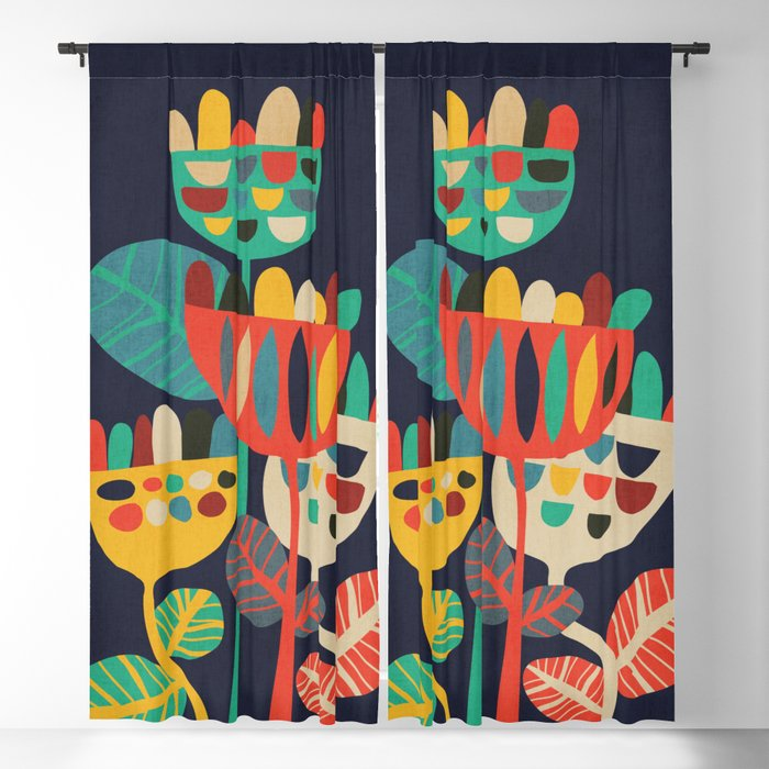 Wild Flowers Blackout Curtain