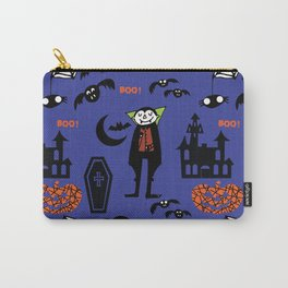 Cute Dracula and friends blue #halloween Carry-All Pouch