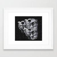 skulls Framed Art Prints featuring Skulls by Mrs Araneae