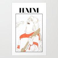 haim Art Prints featuring Danielle Haim by chazstity