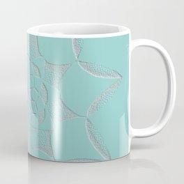 Dot Mandala Light Green - 3D Pointilism Coffee Mug