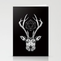 stag Stationery Cards featuring Stag by Andy Christofi