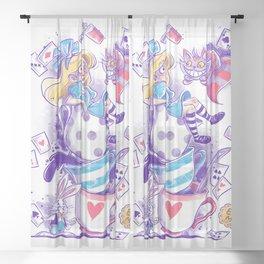 Purple Wonderland Sheer Curtain