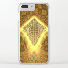 Space Honeycomb Clear iPhone Case