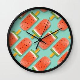 Watermelon Popsicles Pattern #society6 #decor #buyart Wall Clock