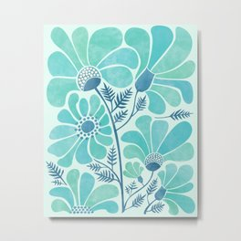 Himalayan Blue Poppies Metal Print
