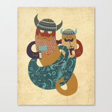 The Bearded Men of the Sea Canvas Print