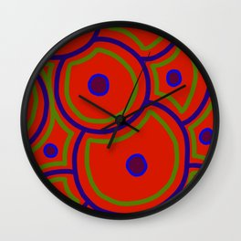 Stem Cells - Red Wall Clock