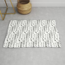 Typography Special Characters Pattern #1 Rug