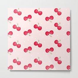 Sweet Cherries Unique Pattern Metal Print