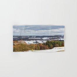 Muggleswick snow landscape Hand & Bath Towel