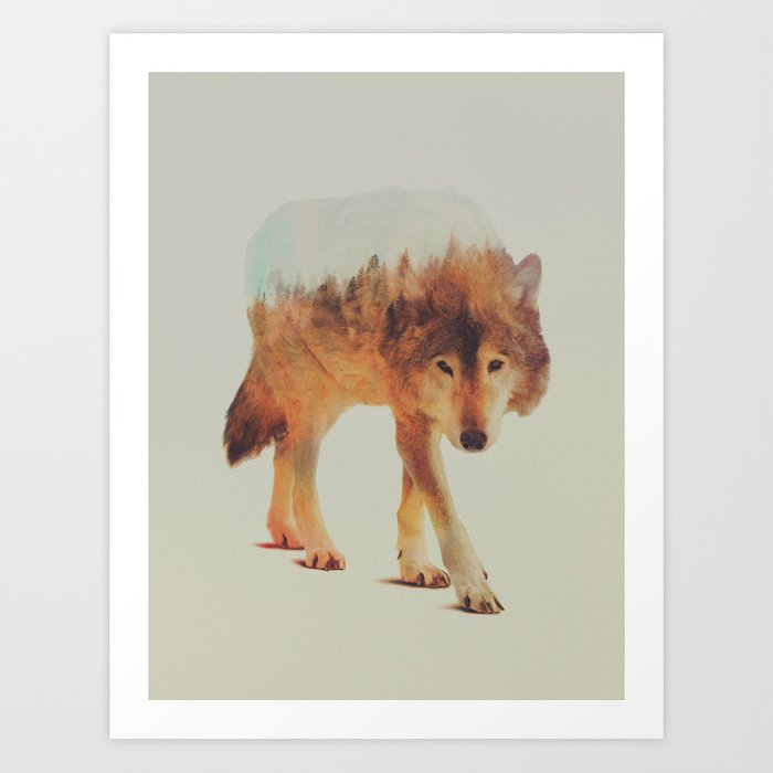 Discover the motif WOLF IN THE WOODS #2 by Andreas Lie as a print at TOPPOSTER