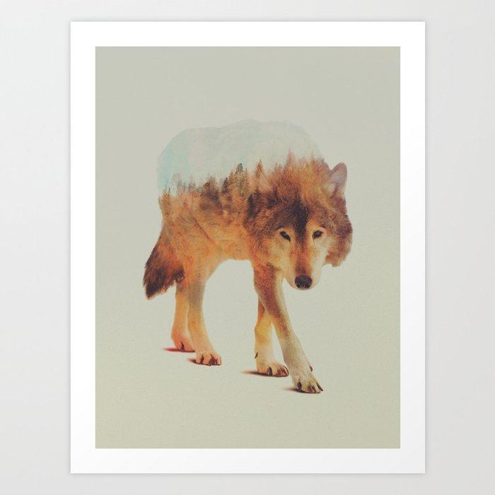 Découvrez le motif WOLF IN THE WOODS #2 par Andreas Lie en affiche chez TOPPOSTER