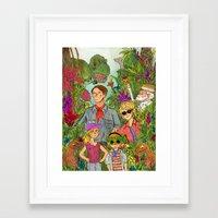 jurassic park Framed Art Prints featuring Jurassic Park by Jennifer Chan