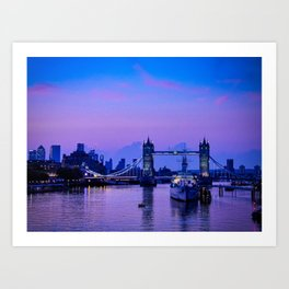The Thames, early morning Art Print