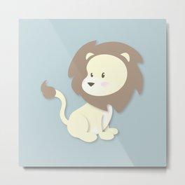 Nursery Lion Metal Print