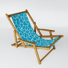 The Great Sea: Graphic Ocean Water Pattern Sling Chair