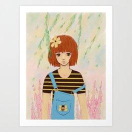 Little Bee Art Print