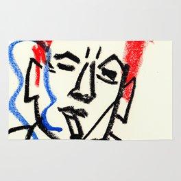 red hair man smoking Rug
