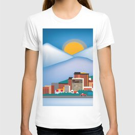 Anchorage, Alaska - Skyline Illustration by Loose Petals T-shirt