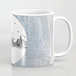 Chicago, Illinois City Skyline Illustration Drawing Coffee Mug