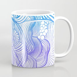 The Ebb and Flow - Purp & Blue Coffee Mug