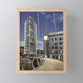 Bristol Feeder Canal Footbridge Framed Mini Art Print