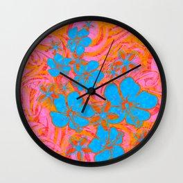 Vintage Hawaiian Absract Painted Junge Print Wall Clock