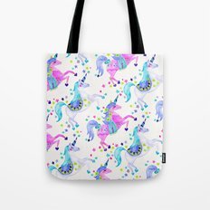 Pastel Unicorns Tote Bag