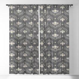 Spooky Moths Sheer Curtain