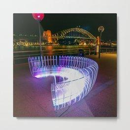 Light Bench, Vivid Sydney Festival Metal Print