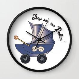 Rollin' Pram   Baby Lyf Collection Wall Clock