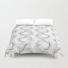 black and white shapes pattern Duvet Cover