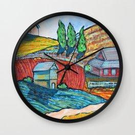 The Little Farm Wall Clock
