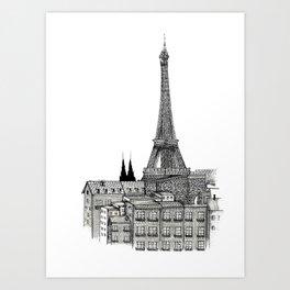 City view of paris Art Print