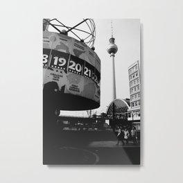 Berlin Alexanderplatz black and white photography Metal Print