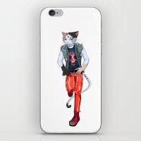 misfits iPhone & iPod Skins featuring Misfits punk cat  by Kami-katamari