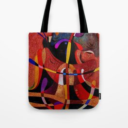 Abstract red expression Tote Bag