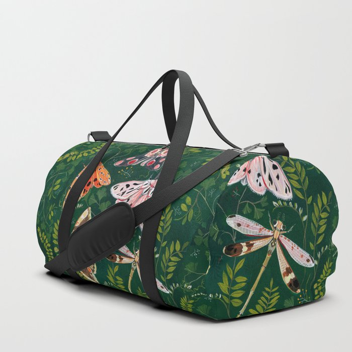 Moths and dragonfly Duffle Bag