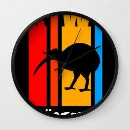 Kiwi New Zealand Bird Kiwis Gift Wall Clock