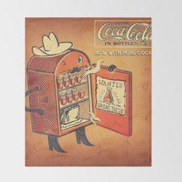 Cocaine Cola Throw Blanket
