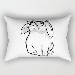Cute Rabbit Bunny Nerd With Geek Glasses Rectangular Pillow