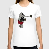 boxing T-shirts featuring Boxing Elephant by Adam Metzner